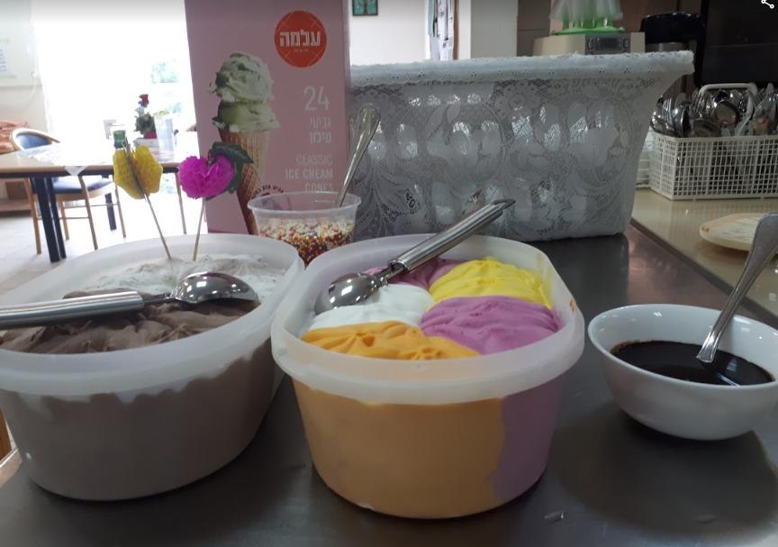 קינוח גלידה בית אבות